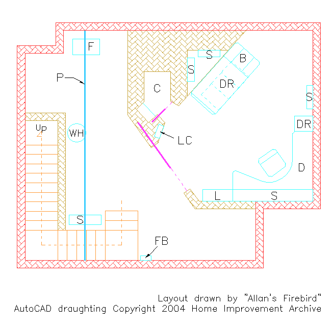 Image showing layout of the Home Improvement Archive - The Taylor's House - Basement